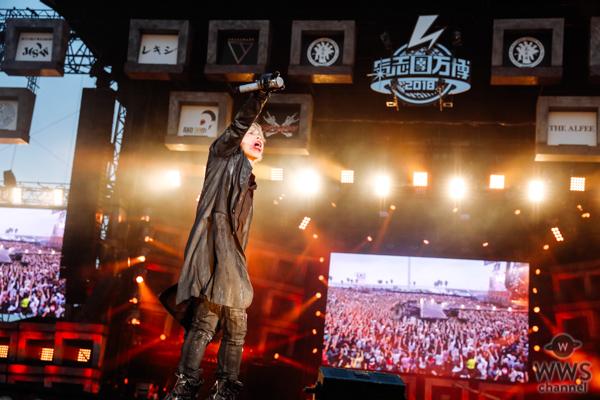 【ライブレポート】HYDEがソロ初となる氣志團万博 2018に登場!圧倒的なカリスマ性で『HONEY』を熱唱し盛り上がりは最高潮に。