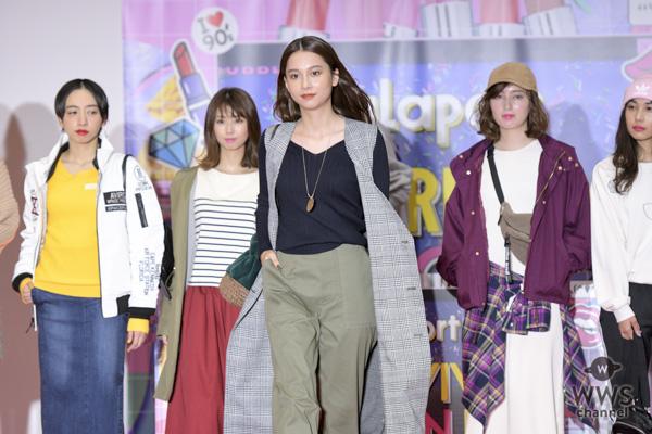 ファッションモデル・Nikiがららぽーと「90's リバイバルファッションショー」で華麗にランウェイ!<90's REVIVAL FASHION FES>