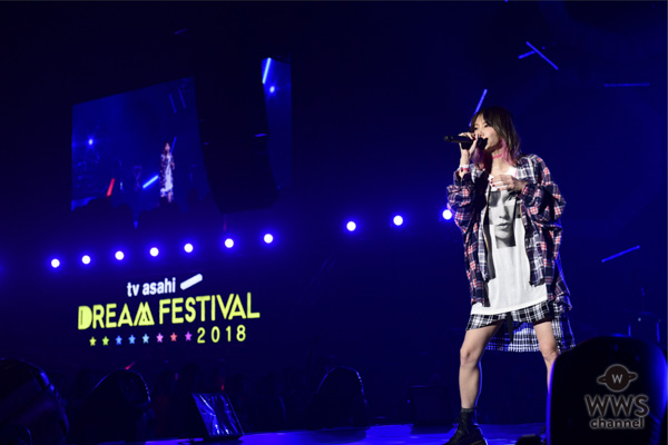 【ライブレポート】LiSAがドリフェス初登場!「女性のみなさんの声がとても新しいです」<テレビ朝日ドリームフェスティバル2018>