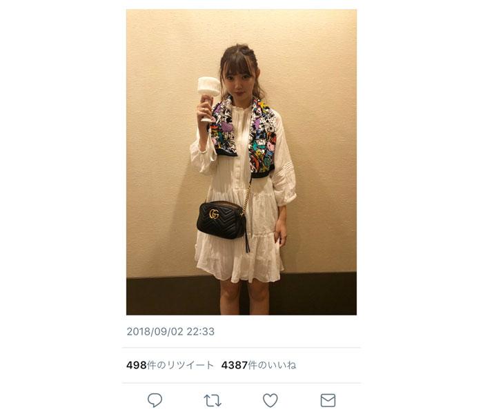 江野沢愛美がAAAのドームツアーを観戦!「泣きました。ありがとうございます。」