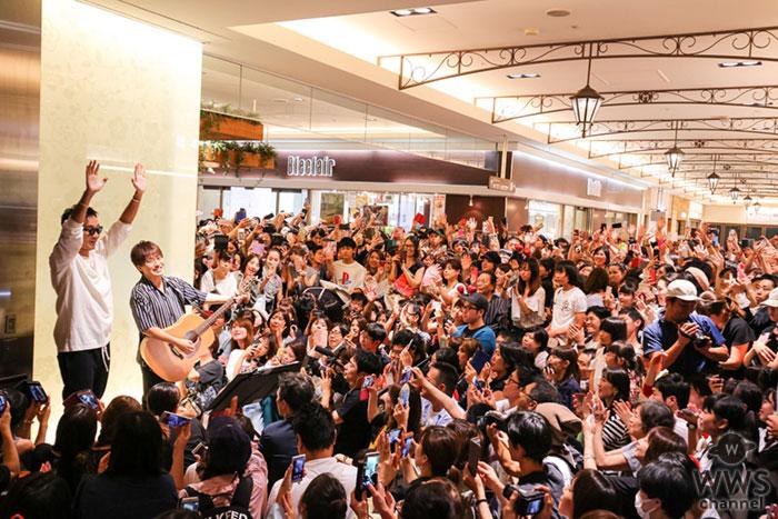 コブクロ、結成20周年記念日にゆかりの地 大阪・天王寺MIO前にて17年ぶりのストリートライブを決行!!