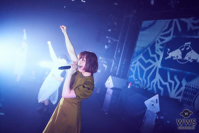 きゃりーぱみゅぱみゅがレッドブルイベント出演を終えてコメント!「今回はレッドブルさんをイメージしたブルーの衣装にしてみました。4年ぶりのアルバムは日本をイメージしたアルバム。」<RED BULL MUSIC FESTIVAL TOKYO 2018>