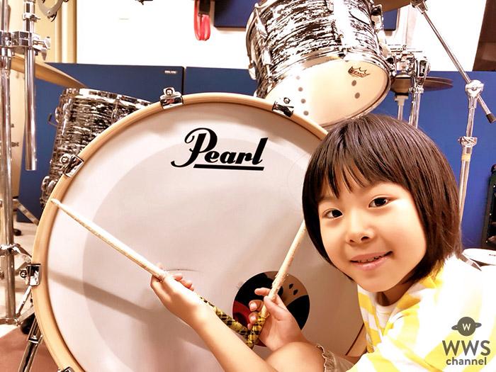 """8歳の天才ドラマー""""よよか"""" が世界的楽器メーカー『Pearl』『Zildjan』と 最年少でエンドースメント契約を締結!!"""