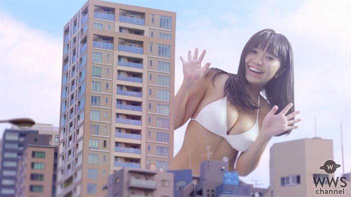"""大原優乃が水着で街に登場??新作ゲームと""""大型""""コラボが実現!"""