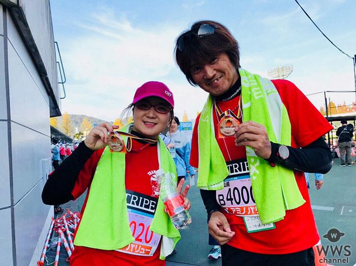 初マラソンで完走!シンガーソングライターの奥華子が岡山で初のフルマラソンに参加!!