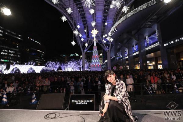 絢香、「光の街・博多」クリスマスツリー点灯式出演!映画『人魚の眠る家』主題歌「あいことば」を初歌唱!!