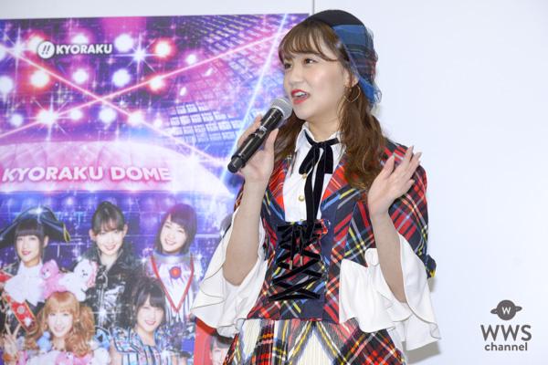 AKB48・小嶋真子、ロボット風衣装に「ちょっと前に撮影したので顔も違うし・・・」と照れ。京楽「ぱちんこ AKB48」新機種発表会に登場!