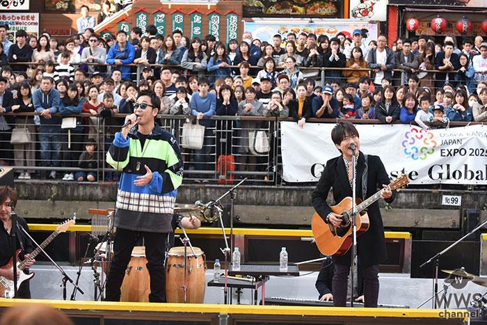 コブクロ、「ベストヒット歌謡祭」 大阪・道頓堀 船上ライブ収録に5000人が騒然!!