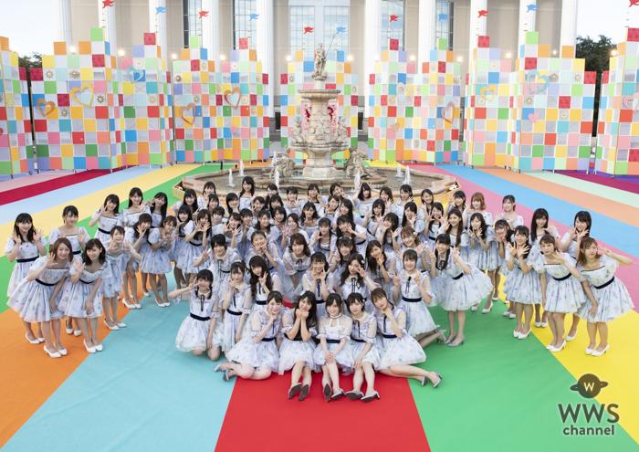 山本彩も激励!NMB48が小嶋花梨をセンターに『絶滅黒髪少女』を披露!!<ベストヒット歌謡祭2018>