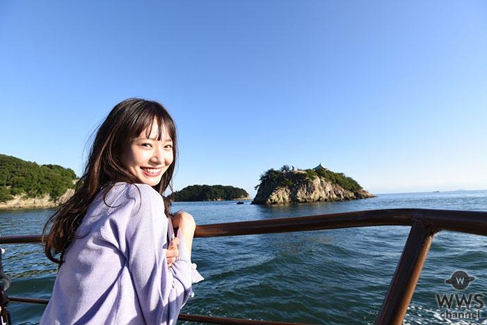 """西川瑞希、『仙酔島』の""""世界一の露天風呂""""でエネルギーチャージ!"""