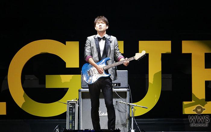 Jリーグ公式テーマソングを作曲したギタリスト春畑道哉、25回目のJリーグアウォーズで「J'S THEME(Jのテーマ)」熱演!