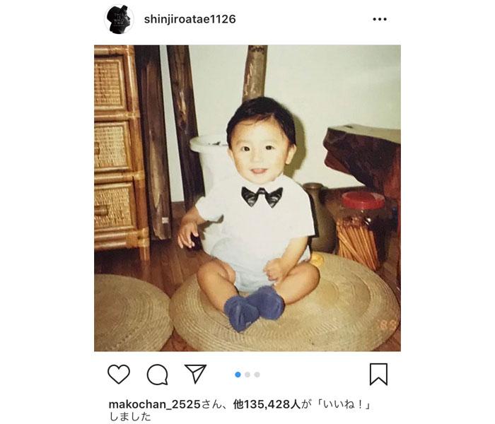 AAA・與真司郎が誕生日に幼少期の写真を公開!「愛おしすぎます」「可愛い末っ子王子でいてください」!!