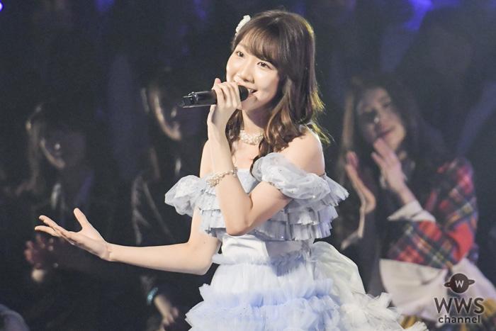 柏木由紀の『夜風の仕業』がランクイン!青く染まった会場でしっとりと披露!!<AKB48 リクアワ2019・2日目>