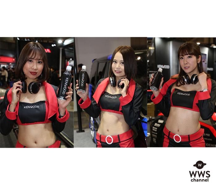 星野もえらコンパニオン達がKENWOODブースに登場!艶やかなセクシー衣装で「東京オートサロン2019」を彩る!