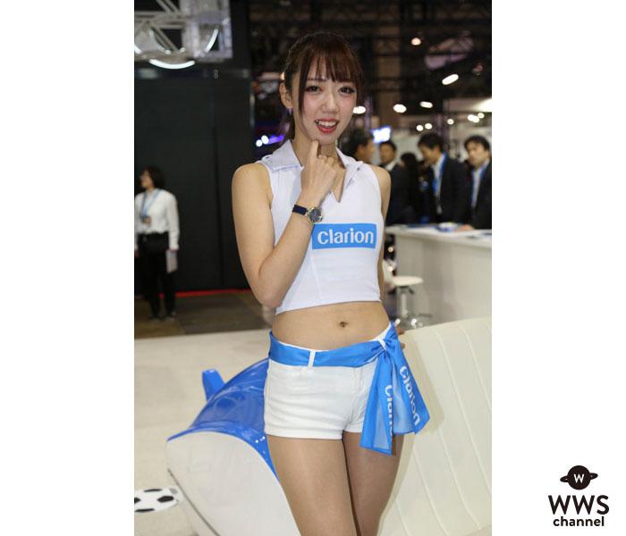 泉夢花、Clarion(クラリオン)のブースで健康的スタイルを披露!<東京オートサロン2019>