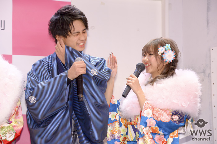 れいたぴ、今年の目標は「タピオカのプロデュースがしたい」!北出大治郎と「振袖TEENS」お披露目イベントに登場!!