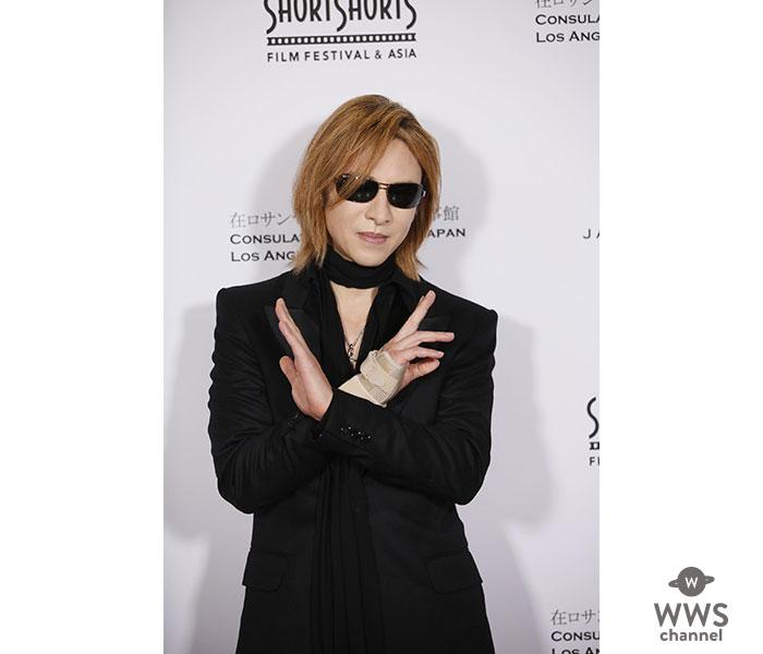 YOSHIKI、「ショートショート フィルムフェスティバル in ハリウッド」の レッドカーペットに登場!来週、映画関連で何らかの発表があることを示唆!!