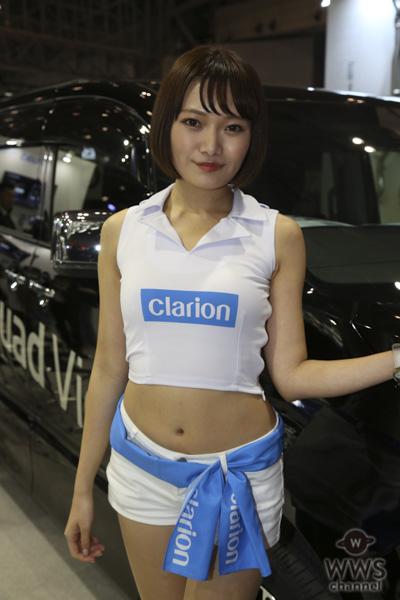 泉夢花、Clarionのブースで健康的スタイルを披露!<東京オートサロン2019>