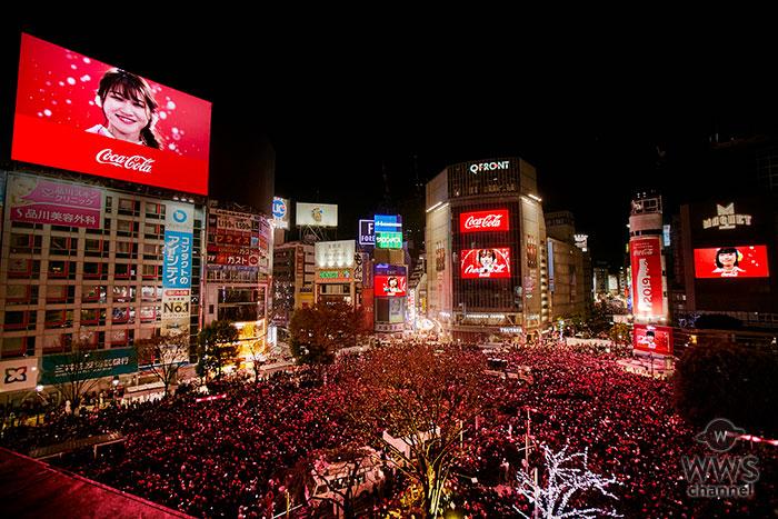 渋谷に約12万人が集結!「コカ・コーラ」福ボトルと「Little Glee Monster NEW YEAR LIVE」映像で2019年の幕開けをさらに特別なひとときに!「YOU MAKE SHIBUYA COUNTDOWN 2018-2019」