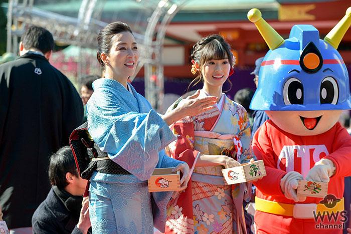 真矢ミキ・井本彩花が日枝神社「節分祭」に登場!
