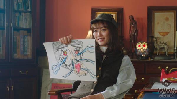 """女優・内田理央、""""画伯探偵""""に扮したWEBムービーで名推理を披露!"""
