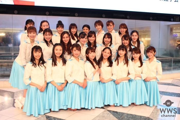 山木梨沙、自身2回目のデビューに感激!現役女子大生アイドル、カレッジ・コスモスが1stシングル発売記念ミニライブを実施!