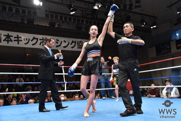 セブンティーンモデル・高橋アリスがキックボクシングプロデビュー戦で最年少優勝!