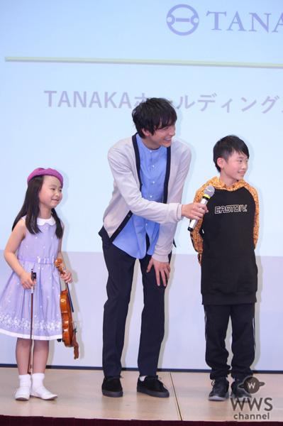 """小関裕太、純金でできた""""金のタマゴ""""に緊張!TANAKAホールディングス 新CM発表会に登場!"""