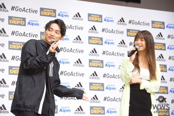 AAA・SKY-HI、宇野実彩子が「ADIDAS #GoActive キャンペーン」新CM発表会に登場!