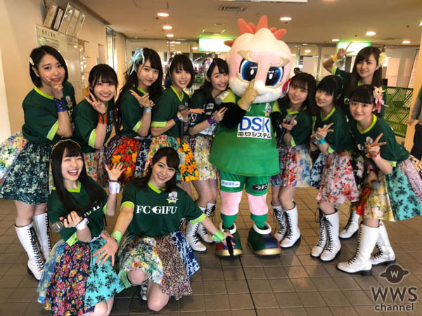 SUPER☆GiRLS(スパガ)が7,000人の前で『FC岐阜』勝利のためのスペシャルスタジアムLIVEを実施!