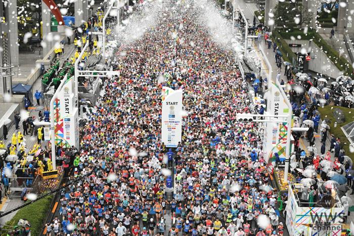 東京マラソン2019がいよいよ開幕!降りしきる雨の中、都庁前をスタート!