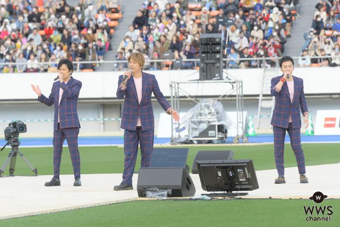 稲垣、香取、草彅ら「新しい地図」、パラ駅伝閉会式で17,500人を前にスペシャルライブ開催!