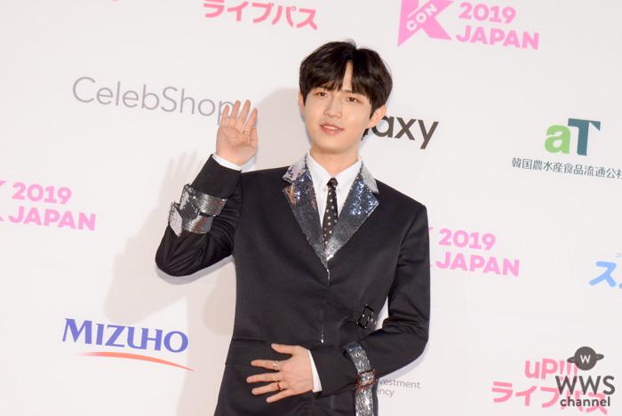 キム・ジェファン(김재환)が「M COUNTDOWN」を前にレッドカーペットに登場!<KCON 2019 JAPAN>