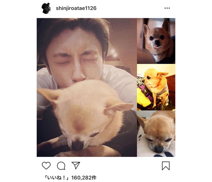 AAA・與真司郎、愛犬ライへの想いを綴る。「いつでも側にいてくれて、弟みたいな存在」