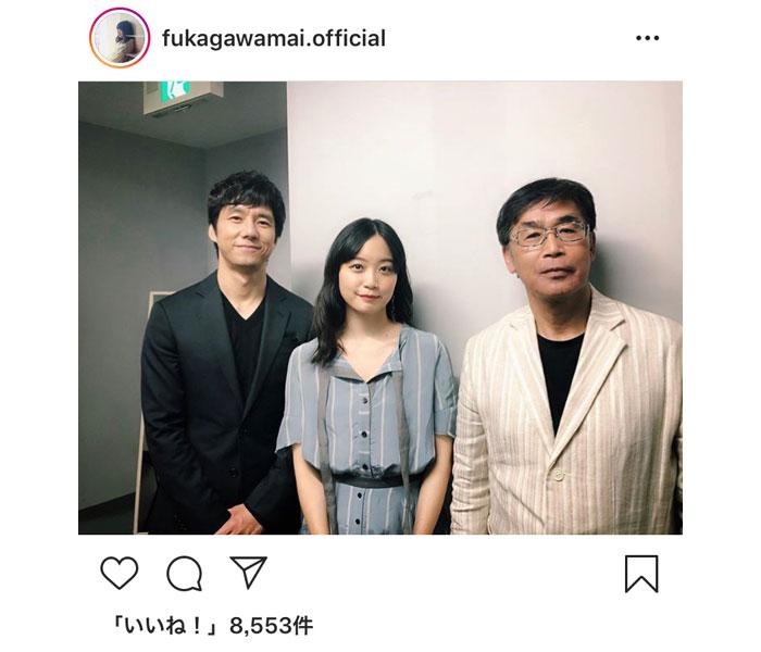 深川麻衣、西島秀俊と若松節朗監督の「空母いぶき」3ショット公開!「たくさんの方にこの作品が届きますように」