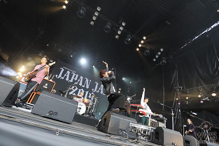 【ライブレポート】ストレイテナーが、3日目のSUNSET STAGEに登場。go!go!vanillas・牧も出演し、1曲で2度おいしい、まさに『KILLER TUNE』を披露!<JAPAN JAM 2019>