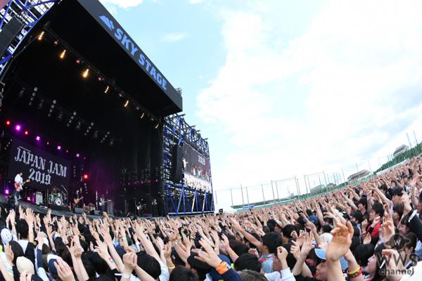 【ライブレポート】クリープハイプが天気を味方にSKY STAGEを曇天から晴天へ!<JAPAN JAM 2019>