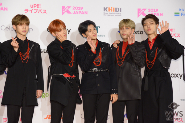 ATEEZが「M COUNTDOWN」出演前のレッドカーペットに登場!<KCON 2019 JAPAN>
