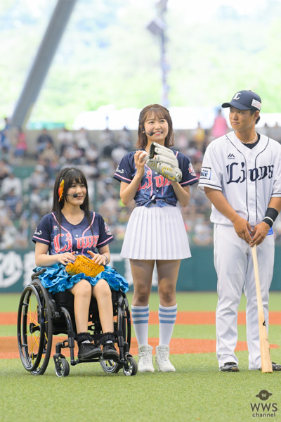 SKE48・惣田紗莉渚、3年ぶりの始球式でツーバン!「大暴投にならなくてよかった」