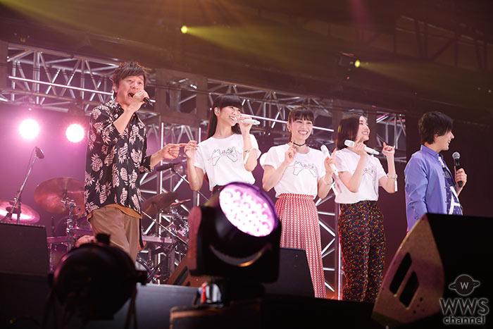 【ライブレポート】Amuse Fes(アミューズフェス)恒例のスペシャルゲストバンド「マルシャショーラ」として Perfumeにポルノグラフィティら、フェス出演者が総出演!