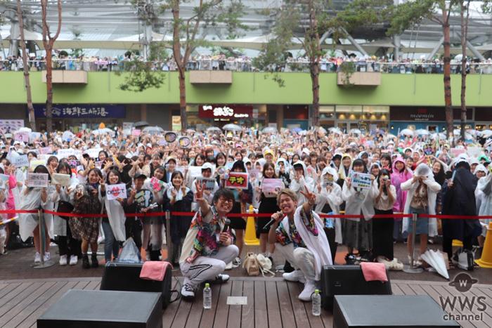 スカイピース、Sg「Ride or Die」、Al「BE BOY」のリリースイベントで3000人が大雨の中熱狂!!