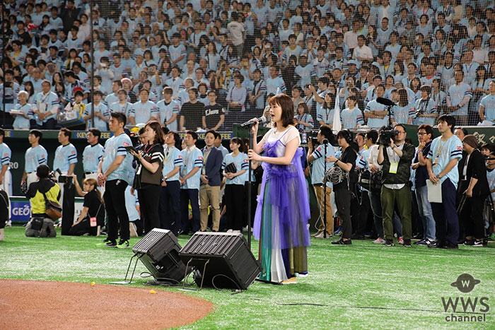 大原櫻子、約4万7千人の前で初の国歌独唱!<鷹の祭典2019in東京ドーム>
