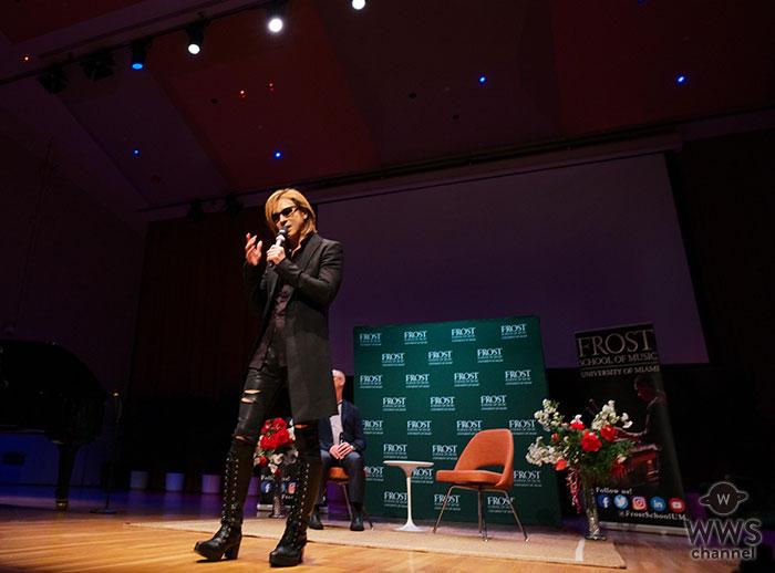 YOSHIKI、マイアミ大学フロスト音楽校にて特別講義を実施!