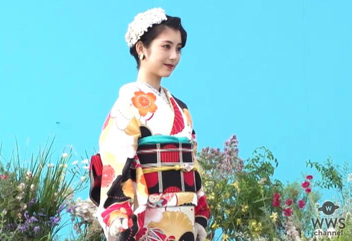 動画】浜辺美波が出演「京都きもの友禅」新CMのメイキングが公開