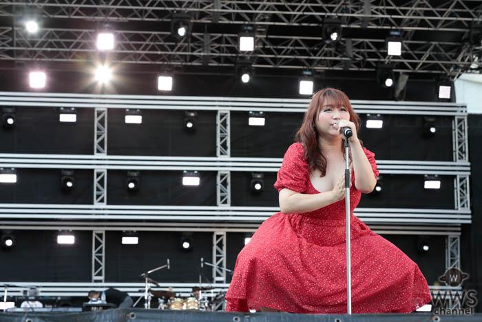りんごちゃんが「a-nation 2019」大阪公演に赤いドレス姿で登場!<a-nation 2019>