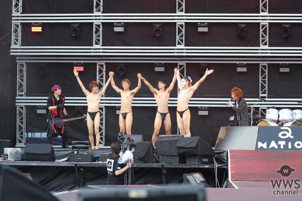 ゴールデンボンバーが「a-nation 2019」大阪公演に登場!奇想天外なライブステージに会場爆上げ!<a-nation 2019>