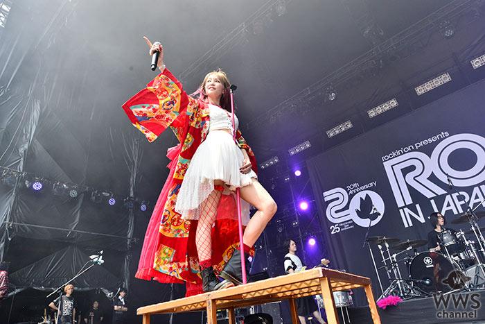 【ライブレポート】LiSAがROCK IN JAPAN FESTIVAL 2019で人気曲「Rising Hope」など8曲熱唱! 愛らしい表情でセクシーなステージングを魅せる!