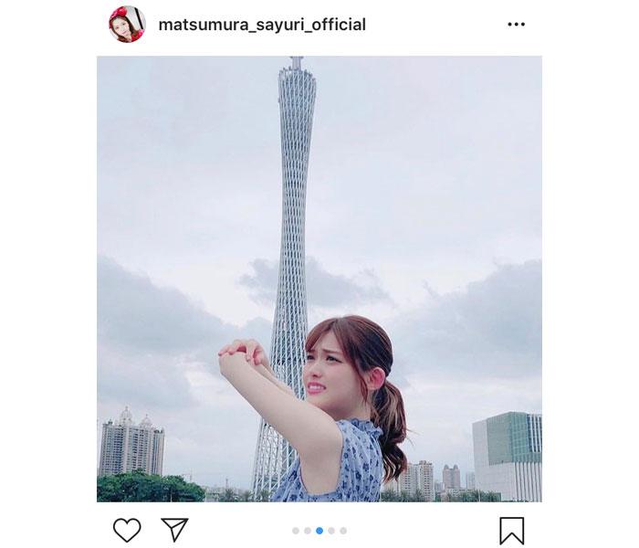 乃木坂46・松村沙友理、今度は中国でシンエヴァ冒頭シーンを再現!?