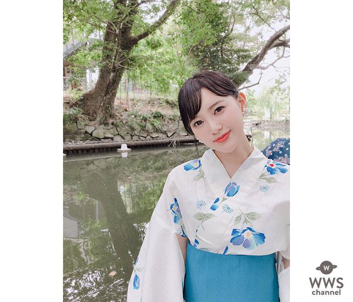 元HKT48兒玉遥、今夏初浴衣に「可憐」