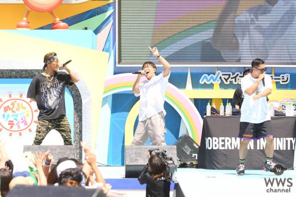 DOBERMAN INFINITYがめざましライブ×TGCのコラボイベントで熱狂ライブを開催!